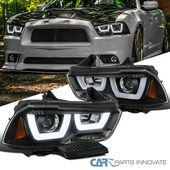 Details About For 11 14 Dodge Charger Black Iced Led Projector Headlights Head Lights Lamps In 2020 Projector Headlights Hid Headlights Led Projector