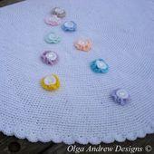 Luxury Round Baby Blanket Crochet Pattern 062 Round Crochet Pattern Gorgeous 41cm   – Baby Blanket