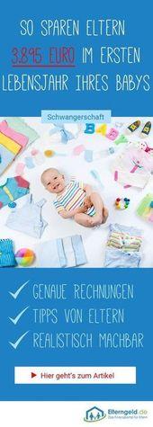 Wie du 3.455€ im ersten Lebensjahr deines Babys sparst!