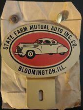 Vintage State Farm Insurance License Plate Topper Bloomington
