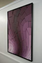 Wood wall art  Blackberry Curve  30×48 wooden