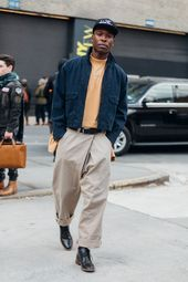 Street style Fashion Week man fall winter 2017 2018 New York 70