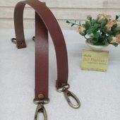 correa de bolso de cuero genuino con mosquetones