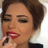 58 trendige Vintage Hochzeit Make-up für braune Augen natürliche rote Lippen -…