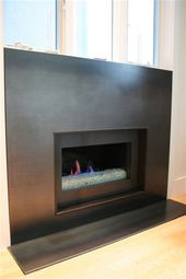 metal fireplace mantle at DuckDuckGo – Home Decor