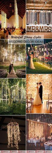Créatif et bricolage cascade guirlande lumineuse Idées de décoration de mariage, 2019, … – Idées de mariage