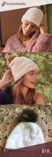 Urban Outfitters White Fuzzy Pompom Beanie New without tags  Super soft and warm… – My Posh Picks