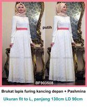 Model Gamis Brokat Putih Baju Gamis Terbaru Pinterest Model