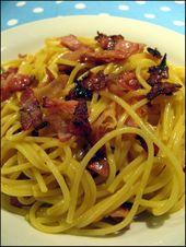 Les vraies pâtes carbonara d'Italie (sans crème) – À la table de Gaelle   – cuisine