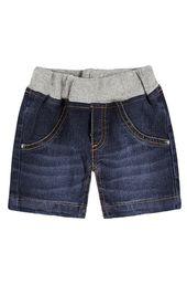 Bermuda Jeans Bebê Menino Com Elástico Na Cintura