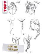 Haar-Frisur zeichnen