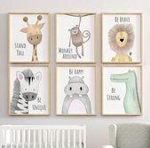 Safari Kinderzimmer Dekor, Animal Print, Zie Kinderzimmer Print, Peekaboo Kinderzimmer, Safari Tier, Safari Kinderzimmer, neutrale Kindergarten Drucke