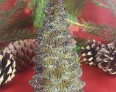 Photo of Kerze Teddy mit Tanne Baumwachs, Bienenwachs Kerze, Kerze, Bär mit Tanne, Weihnachtsdekoration,