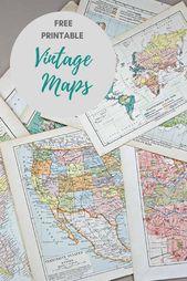 Wunderbare kostenlose druckbare Vintage-Karten zum Herunterladen