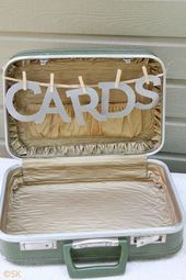 Use an old or thrifted suitcase as a card or gift box. | 31 Grad Party Ideas You'll Want To Steal Immediately Vintage Graduation Party Ideas, Grad...