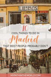 Nicht-touristische Aktivitäten in Madrid: 15 coole Alternativen, die Sie nicht verpassen dürfen!