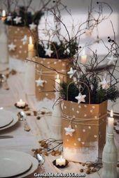 Ausgezeichnet Schöne Weihnachtsdekoration z. Hd. den Tisch