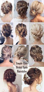 Einfache und schicke Brauthochfrisur-Frisuren-Ideen