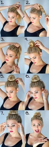 Quick cute and easy hairstyles #dutt #frisurendutt # girlstyles #half …, #diyhairstyl … – Quick cute and easy hairstyles #dutt