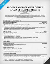 pmo analyst resume resumecompanioncom resume samples across all industries pinterest - Pmo Resume Sample
