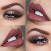 Die perfekte Make-up-Palette für eine Hochzeit im Herbst #makeup #fall #bride #…