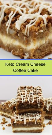 Keto Cream Cheese Coffee Cake #keto #ketocake