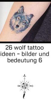 26 wolf tattoo ideen – bilder und bedeutung 6