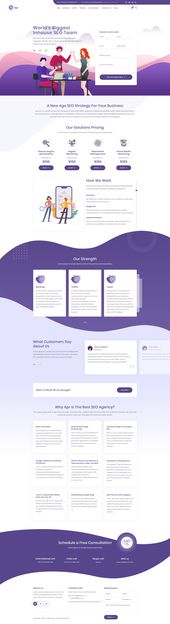 APR – Tech, Digital, Product Landing Page PSD Website Template – Website desing