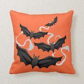Halloween Bats Pillow | Zazzle.com