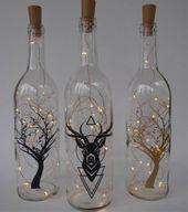 Wine bottle gentle, pricey head, string gentle decor, fairy gentle bottle, lighted wine bottles, tree nightlight, bottle string lights, geometric