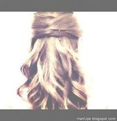 Easy half-updo hairstyles hair tutorial for long hair and for medium hair. Wedding hairstyles for work for school hair formal