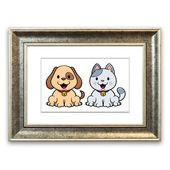East Urban Home Framed Poster Merry Cat and Dog | Wayfair.de