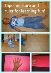 All About Me Theme – Measure parts of the body and items important to your littl… – All About Me Activities