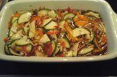 Ensalada de calabacín dulce – agrio   – Küche