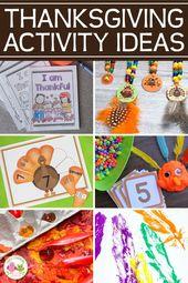 Die besten Thanksgiving-Aktivitäten für Kinder im Vorschulalter – Play Dough