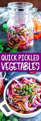 In Essig eingelegtes Gemüse des schnellen Kühlschranks   – Peas and Crayons // Recipes