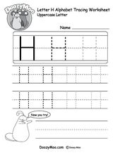 Uppercase Letter Tracing Worksheets (Free Printables) – Doozy Moo