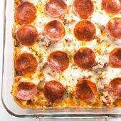 Einfacher Keto Pizza Auflauf   – Diet