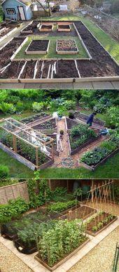 Gartentypen Die Geheimnisse des Anbaus eines Gemüsegartens auf kleinem Raum #garden #g …   – garden design