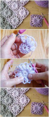 Crochet Simple Motif Blanket