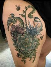 Search result for traditional style succulent flower tattoo …  – cactus tatts