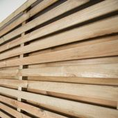 Forest Double Sided Slatted Panel 1 8m High Slatted Fence Panels Fence Panels Contemporary Fence Panels
