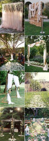 fantastische Hinterhofhochzeitsaltar- und Bogenideen #countrywedding   – country wedding ideas