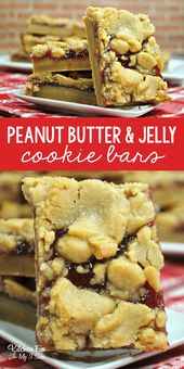 Yummy Peanut Butter and Jelly Bars everyone loves….