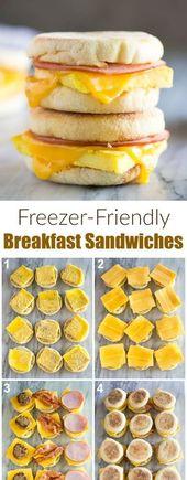Gefrierschrank Breakfast Sandwiches