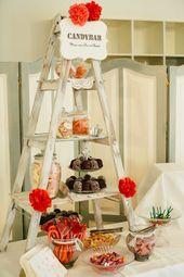 #candybar Bunte Vintage Hochzeit im Schloss in rot orange pink | Hochzeitsblog ….   – Candybar Hochzeit