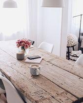 DIY Esstisch selber bauen – Tisch aus alten Baudielen