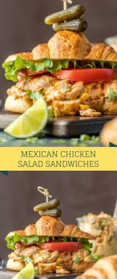 Mexican Chicken Salad Sandwiches  Mexican Cowardly Salad Sandwiches play a truly…