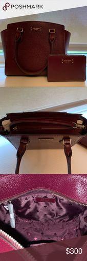 Kate spade set. Bag and wallet! Satchel: Details – Dual rolled top handles – Det…