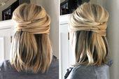 Bridal hairstyles – half pinned / half loose – # bride hairstyles # pinned – # …, #Brautf …